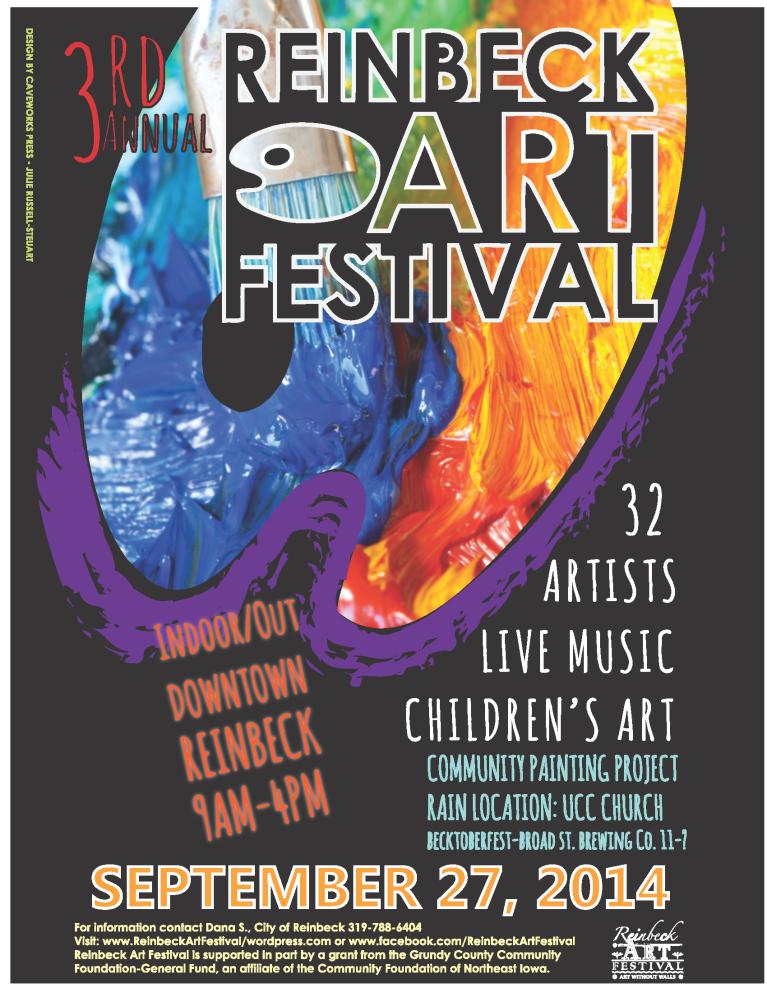 Reinbeck Art Festival 2014 Poster